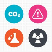 picture of carbon-dioxide  - Circle buttons - JPG