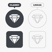 picture of gem  - Diamond sign icon - JPG