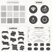 stock photo of vintage jewelry  - Seamless patterns - JPG