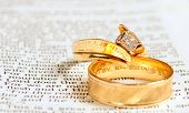 Bible & Wedding Rings