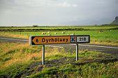 Dyrholaey Tourist Signpost