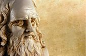stock photo of leonardo da vinci  - Leonardo da vinci one of the greatest mind in the humanity - JPG