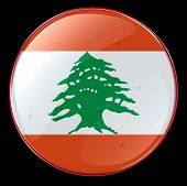 image of bic  - Lebanon Flag Button tested clipping path included - JPG