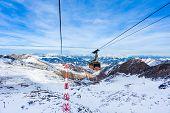 Cable car going to Kitzeinhorn peak, kaprun