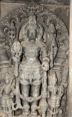 foto of belur  - intricate artwork at an ancient hindu temple in belur karnataka india - JPG