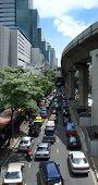 Heavy Traffic In Bangkok