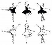 Ballet Woman-dancers. Vector Illustration.