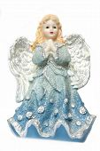 picture of cherubim  - Isolation of a Christmas angel holding  - JPG