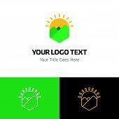 Farm Logo Template Vector Icon On White Background. Farm Logo Template Modern Icon For Graphic And W poster