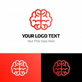 Brain Logo Template Vector Icon On White Background. Brain Logo Template Modern Icon For Graphic And poster
