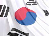Glossy Flag Of South Korea