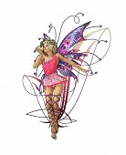 picture of prince charming  - A charming fairy with wings wreath and a frog prince - JPG