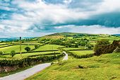 A View Of The Farmland Inside Dartmoor National Park, Devon, United Kingdom poster