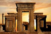 Persepolis - Capital Of The Ancient Achaemenid Kingdom. Ancient Columns. Sight Of Iran. Ancient Pers poster