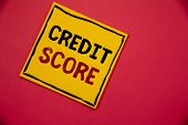 Handwriting Textss Writing Credit Score. Concept Meaning Capacity To Repay A Loan Creditworthiness O poster