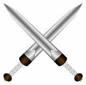 Cross gladius - a short sword Roman legionary
