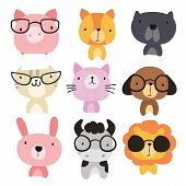 Animals Character Design, Animals Collection, Animals Wildlife poster