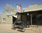Einen Wagen At The O.K. Corral, Tombstone, Arizona