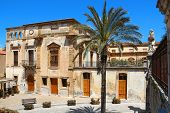 Beautiful Old Buildings On Piazza Duomo (cathedral Square), Cefalu, Sicily, Italy poster