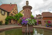 The historical village Riquewihr in the Alsace