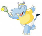 Tennis hippo