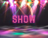 Show Light, Show Floor Banner, Show Text Signboard. poster