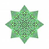 Gravel Star Polygon - Colorful Ornamental Geometrical Vector Design Element From Stones poster