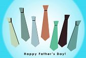 3D Happy Father's Day Card With Orange Background