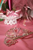 stock photo of quinceanera  - Tiara used to crown a quinceanera on her special day - JPG