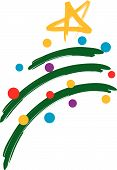 Christmas Tree With Lights Design