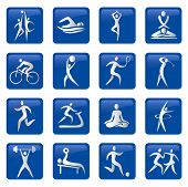 Sport fitness buttons icons.eps