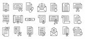 Certificate Of Birth Icons Set. Outline Set Of Certificate Of Birth Vector Icons For Web Design Isol poster