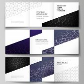 Vector Layout Of Square Format Covers Design Templates For Trifold Brochure. Digital Technology And  poster