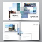 Vector Layout Of Two Covers Templates For Square Bifold Brochure, Flyer, Magazine, Cover Design, Boo poster
