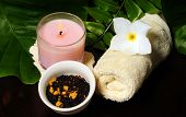 An Arrangement Of Items For A Spa