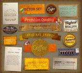 Vintage And Retro Design Elements set. Useful design elements: old papers, labels, ribbons collection | EPS10 vector