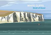 The White Cliffs Of Dover, Part Of The North Downs Formation, English Coastline, Strait Of Dover, Ve poster