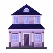 Building Of Apartment Vector Icon.cartoon Vector Icon Isolated On White Background Building Of Apart poster