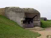 image of emplacements  - german bunker in normandy - JPG