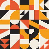 Vector Bauhaus Background. Retro Colorful Geometric Composition For Banners, Posters, Flyers, Brochu poster