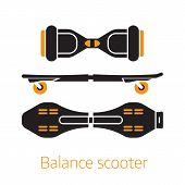 Self Balance Hover Board Icons Or Logo poster
