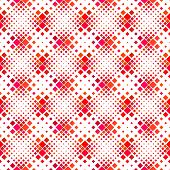 Seamless Square Pattern Background - Red Vector Graphic Design From Diagonal Squares poster