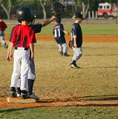 foto of little-league  - little league baseball players - JPG