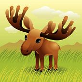 Baby Animal Collection: Moose poster
