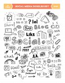 Social Media Doodle Elements Set