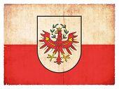 Grunge Flag Of Tyrol (austria)