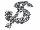 Dollar Sign Crowd