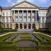 Belgian Parliament Building In Brussels