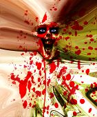 picture of festering  - Wall of flesh made out of a zombie - JPG
