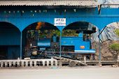Toy Train Parked Shed Driver Side Darjeeling
